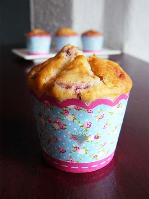 muffiny ze swiezymi truskawkami
